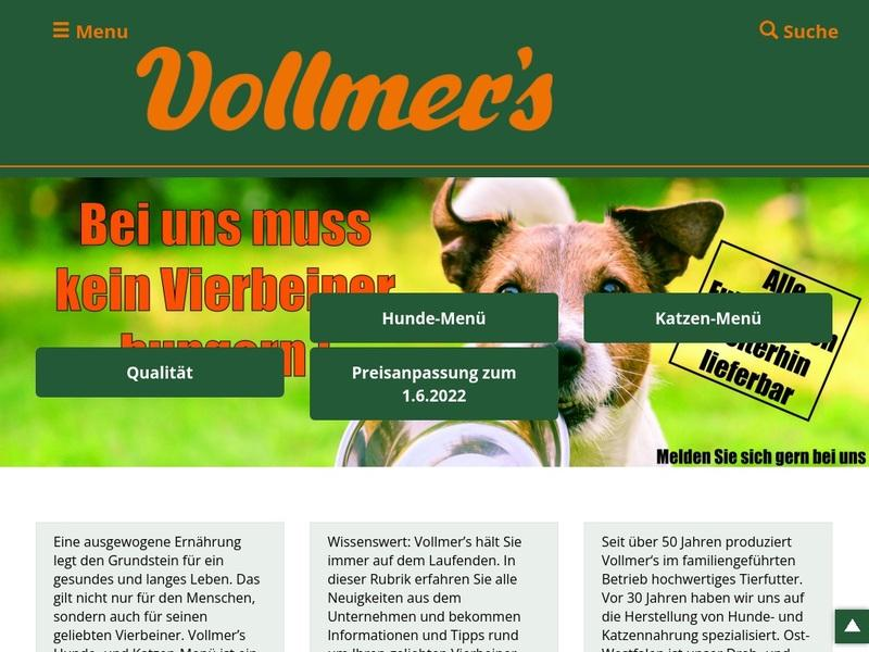 Screenshot von www.vollmers.de