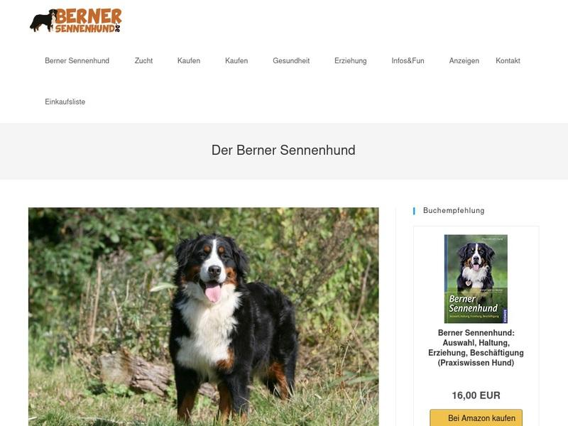 Screenshot von www.bernersennenhund.de